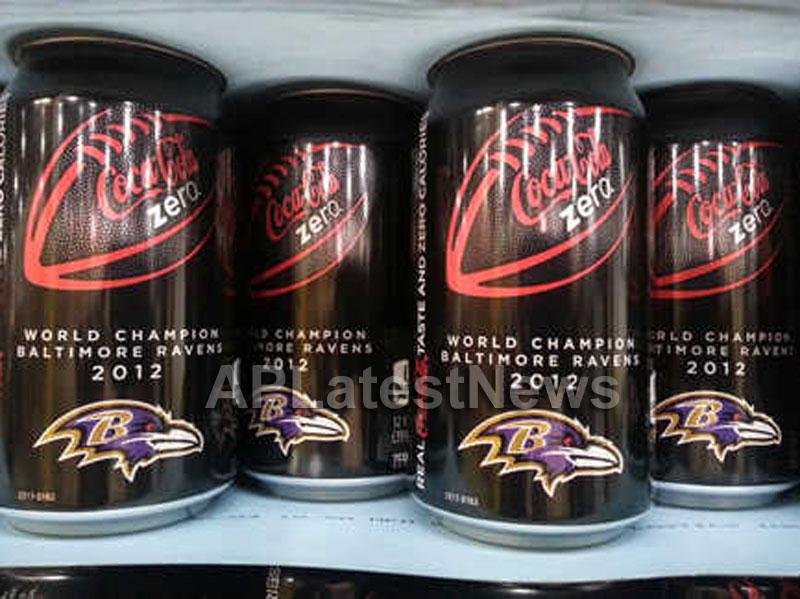 Coke Zero Congratulates the World Champion Baltimore Ravens with Commemorative, Special-Edition Can - Picture 1