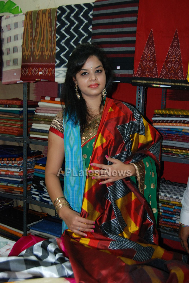Pochampally Ikat art mela in Vizag city - Inaugurated by Tollywood Actress Varsha  - Picture 5