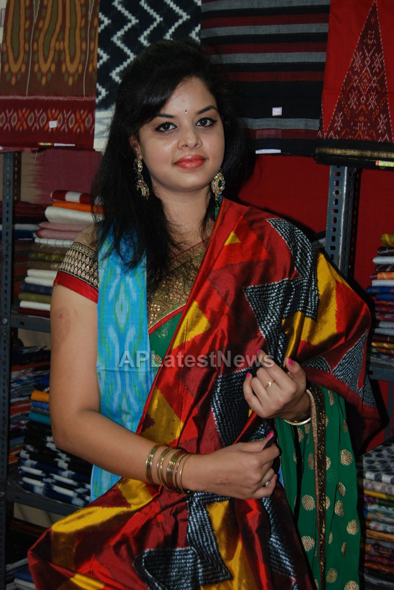 Pochampally Ikat art mela in Vizag city - Inaugurated by Tollywood Actress Varsha  - Picture 3