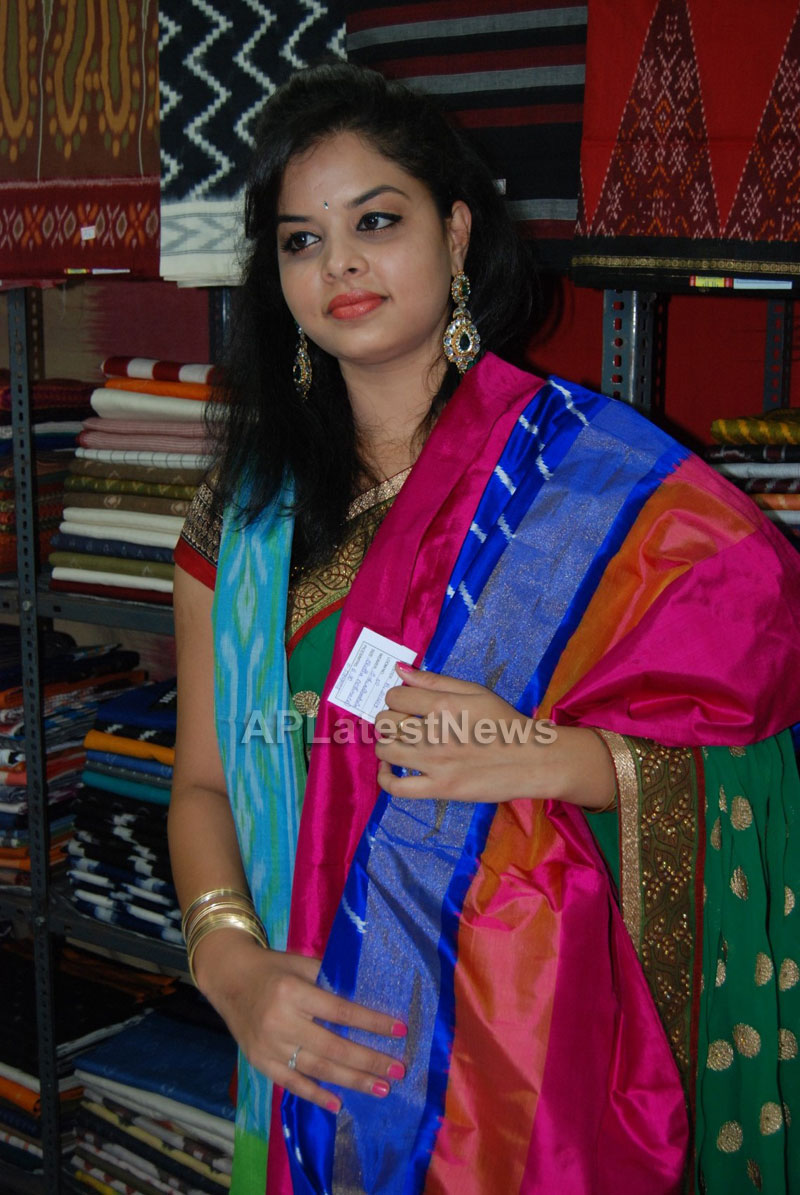 Pochampally Ikat art mela in Vizag city - Inaugurated by Tollywood Actress Varsha  - Picture 8