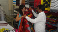 Pochampally Ikat art mela in Vizag city - Inaugurated by Tollywood Actress Varsha  - Picture 1