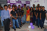 Naturals open Family Salon and Spa by Prema Ishq Kadal Movie Team, Bhimavaram
