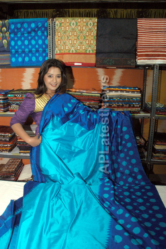 Pochampally -IKAT Art Mela- Basava Bhavan, Bangalore - Sandalwood Actress Soujanya - Picture 9