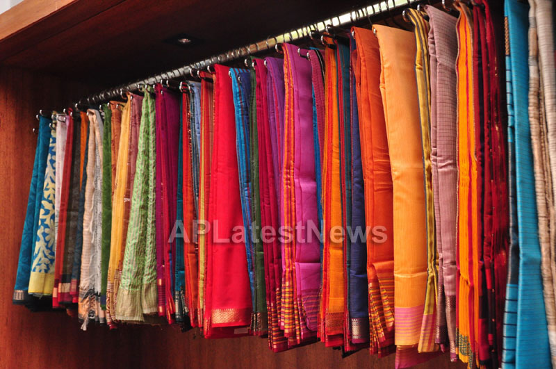 Shrujan Hand Embroidery Exhibition by Tollywood Actress Tanusha, Hyderabad - Picture 14