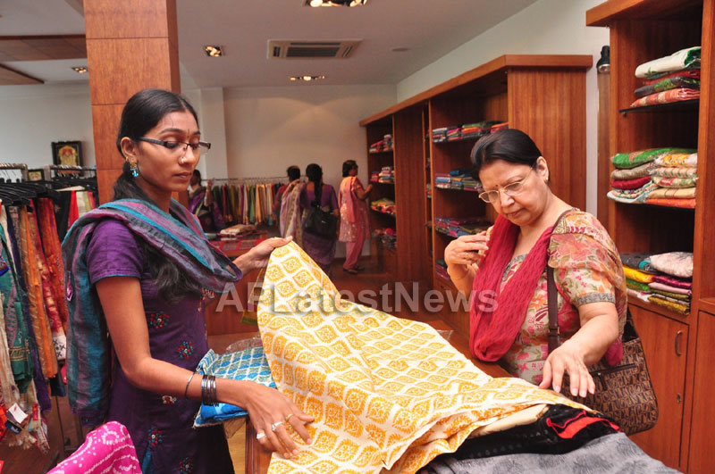 Shrujan Hand Embroidery Exhibition by Tollywood Actress Tanusha, Hyderabad - Picture 13