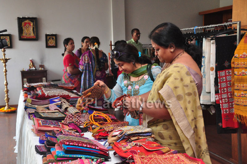 Shrujan Hand Embroidery Exhibition by Tollywood Actress Tanusha, Hyderabad - Picture 12