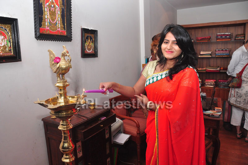 Shrujan Hand Embroidery Exhibition by Tollywood Actress Tanusha, Hyderabad - Picture 1