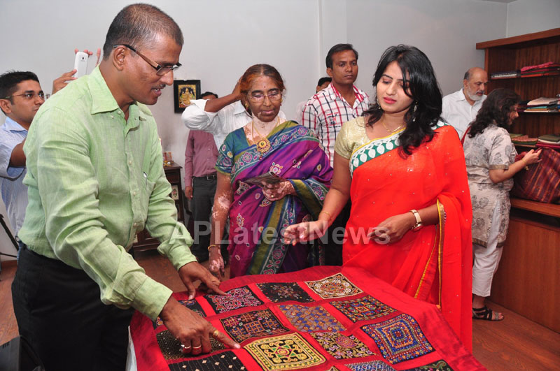 Shrujan Hand Embroidery Exhibition by Tollywood Actress Tanusha, Hyderabad - Picture 11