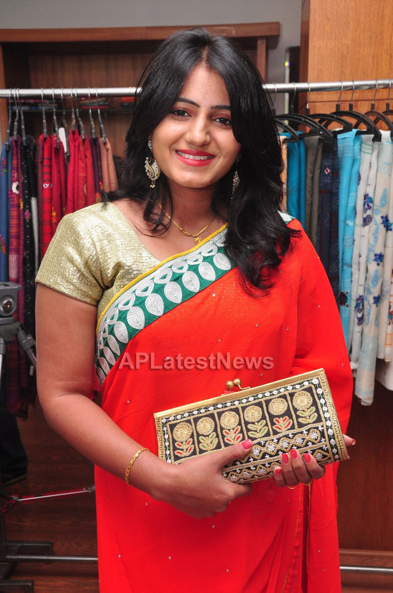 Shrujan Hand Embroidery Exhibition by Tollywood Actress Tanusha, Hyderabad - Picture 10