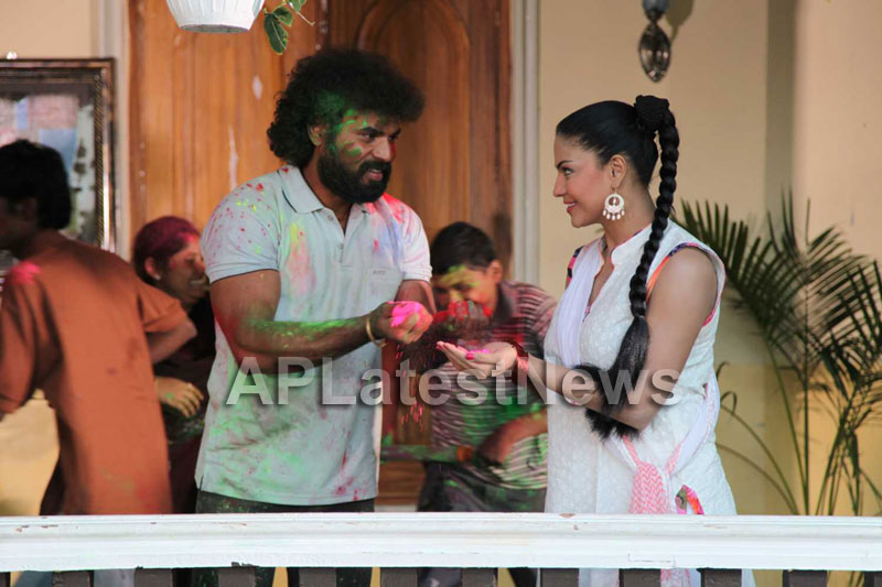 Veena Malik Playing Holi8 - Veena Malik Holi Photos 2013