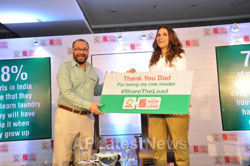 Pictures of Neha Dhupia and Dad join the movement, with actress attributing her success to her parents