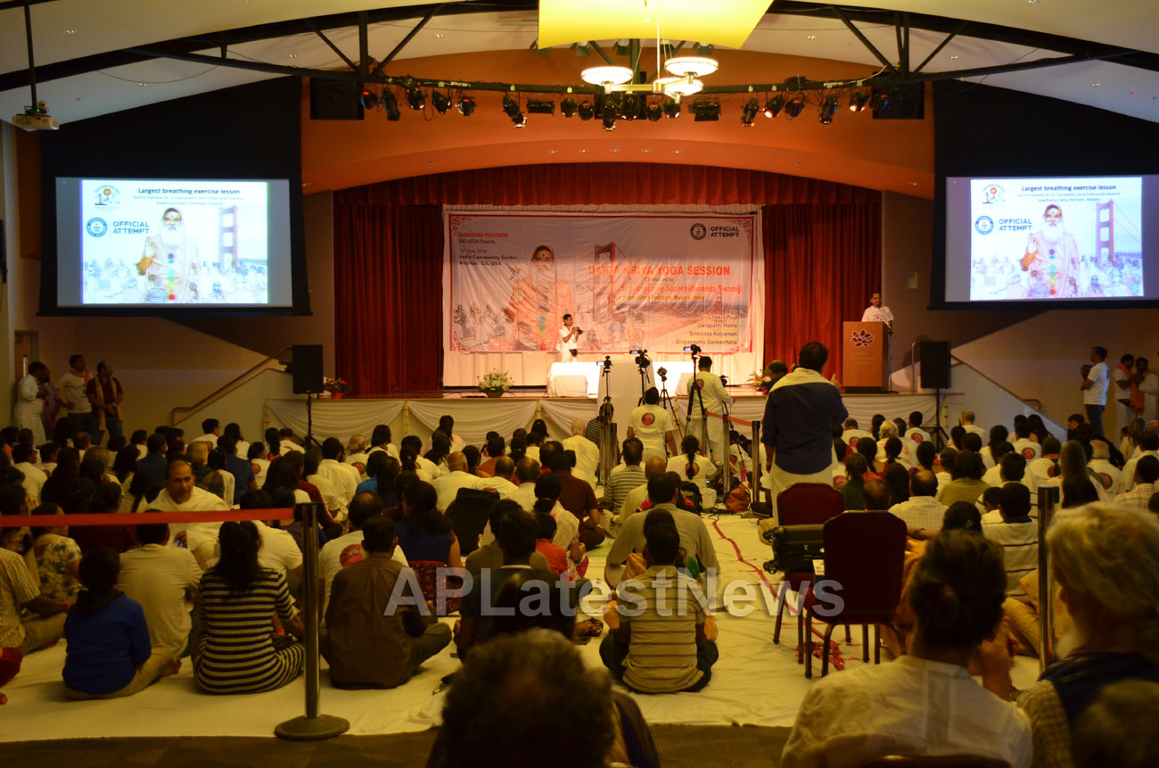 Datta Kriya Yoga Session - Guinness World Record, Milpitas, CA, USA - Picture 7