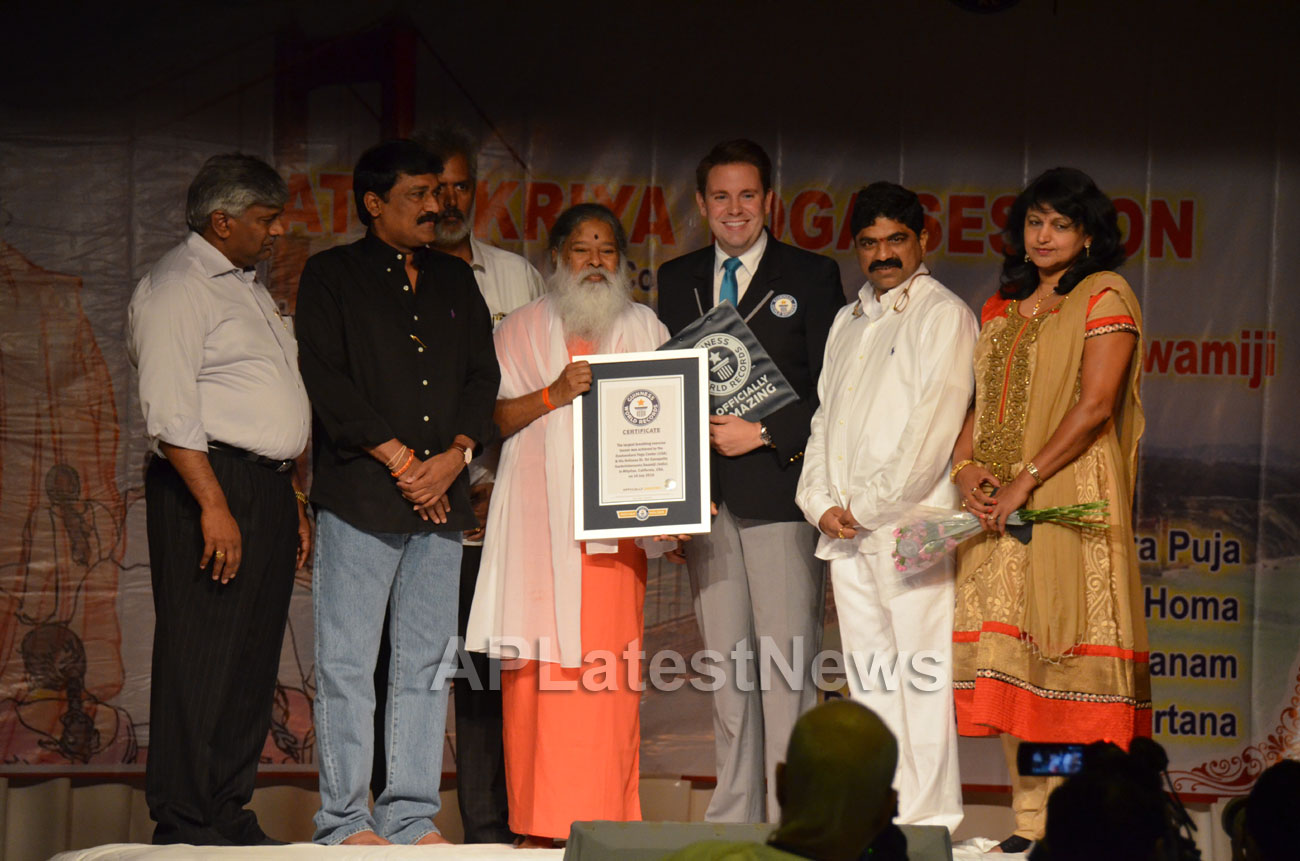 Datta Kriya Yoga Session - Guinness World Record, Milpitas, CA, USA - Picture 4