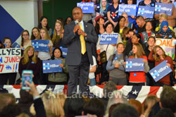 Campaign visit of Hillary Clinton - La Escuelita School, Oakland, CA, USA