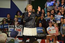 Campaign visit of Hillary Clinton - La Escuelita School, Oakland, CA, USA - News