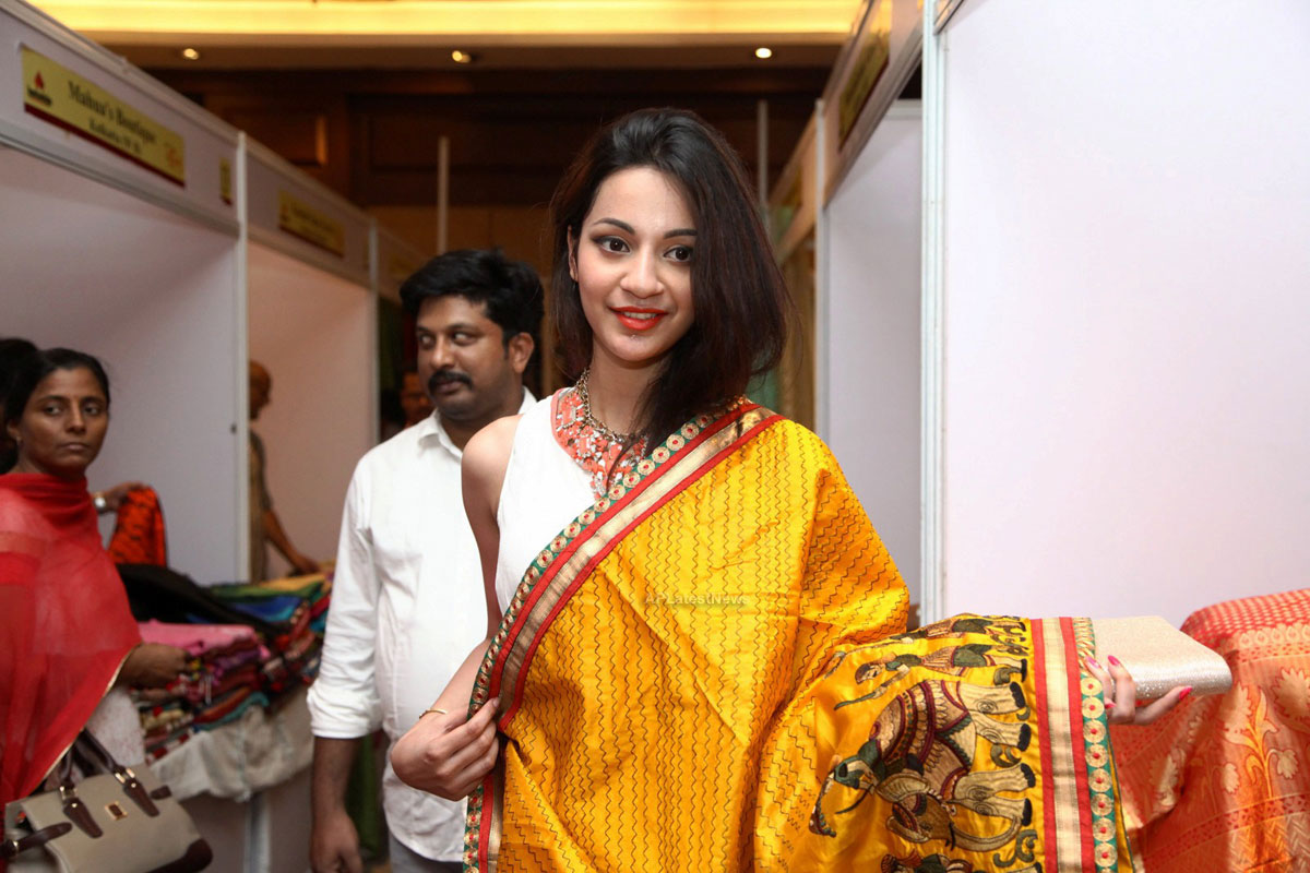 Silken Splendour in Vizag City - Former Miss Vizag Dr Sindhura Inaugurates Silk India Expo - Picture 1