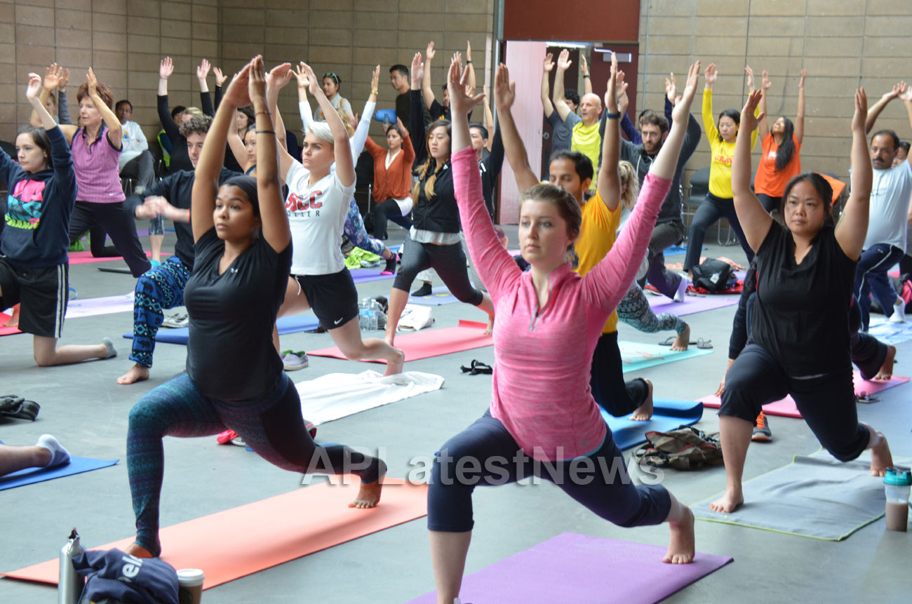 Celebration of 2nd International Day of Yoga, San Francisco, CA, USA - Picture 5