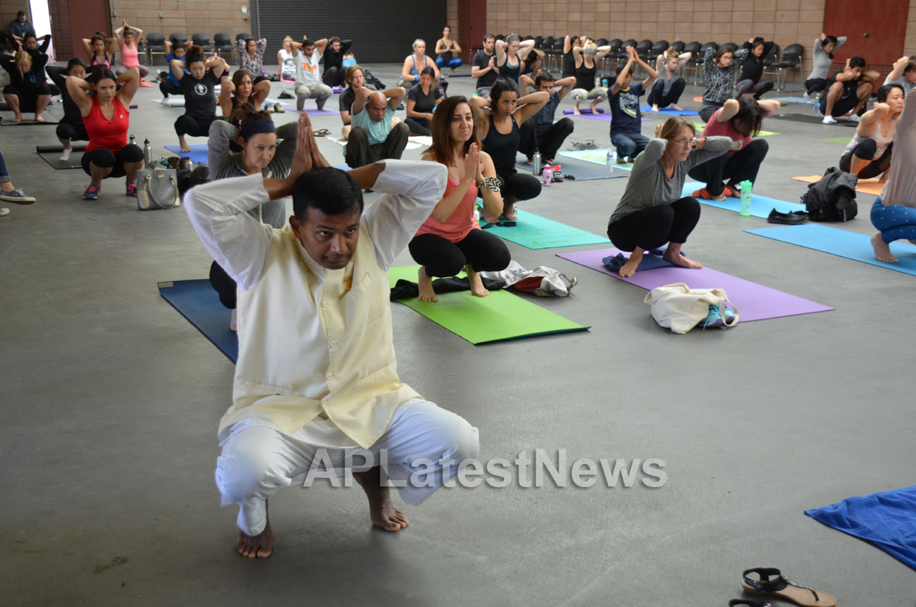 Celebration of 2nd International Day of Yoga, San Francisco, CA, USA - Picture 18