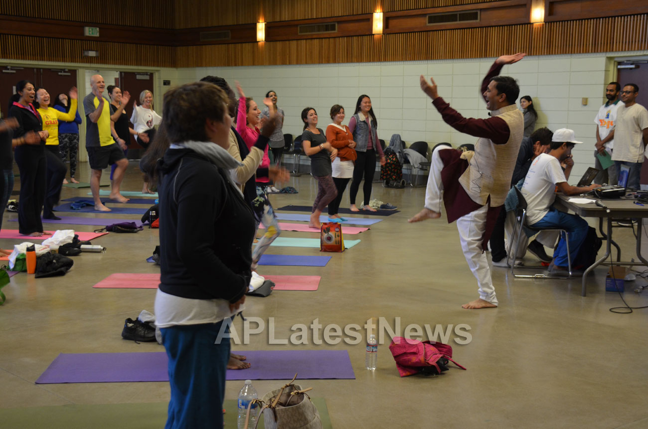 Celebration of 2nd International Day of Yoga, San Francisco, CA, USA - Picture 25
