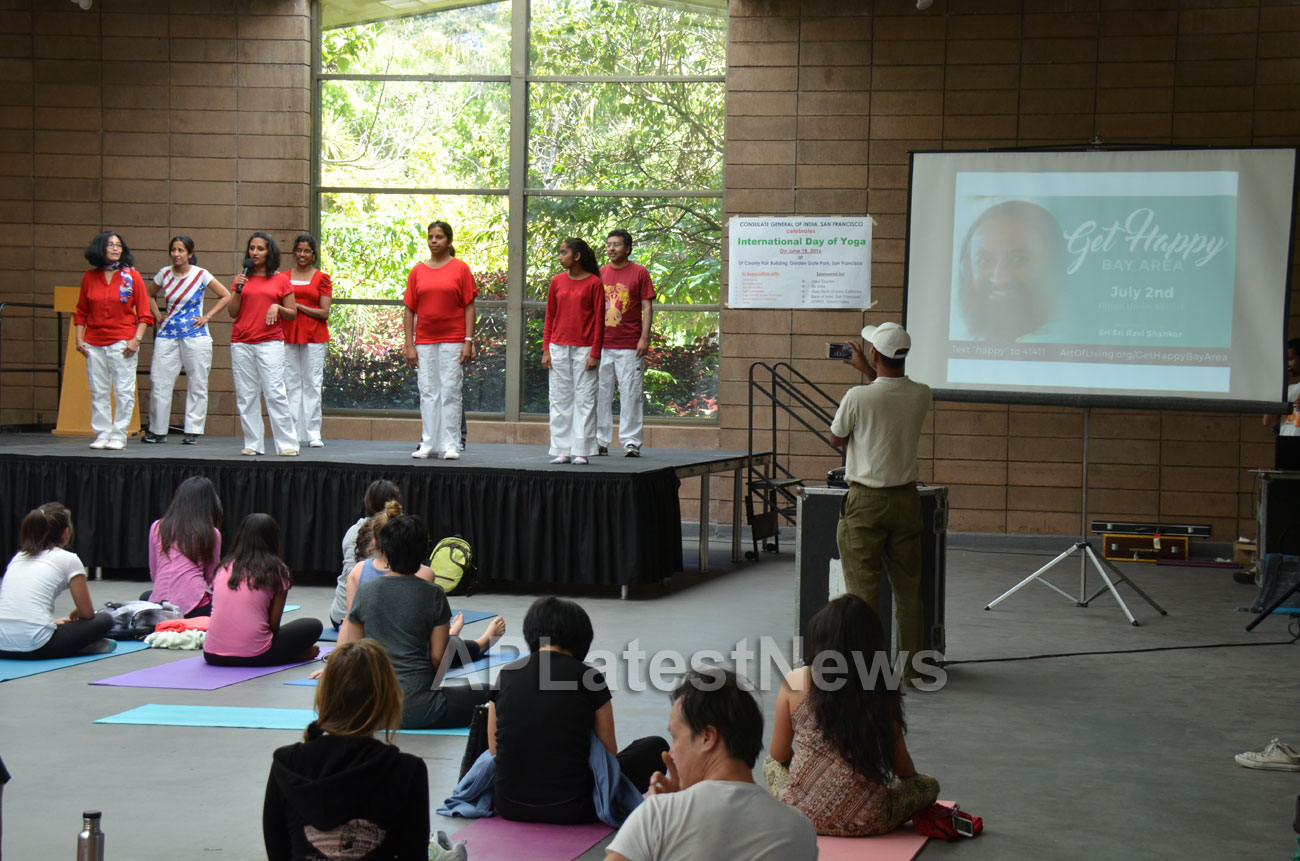 Celebration of 2nd International Day of Yoga, San Francisco, CA, USA - Picture 21