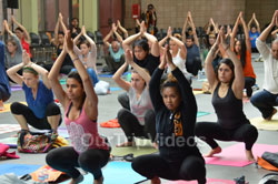 Celebration of 2nd International Day of Yoga, San Francisco, CA, USA - Picture 1