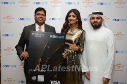Pictures of SBI Card and Etihad Guest launch premium Visa credit card for international travel